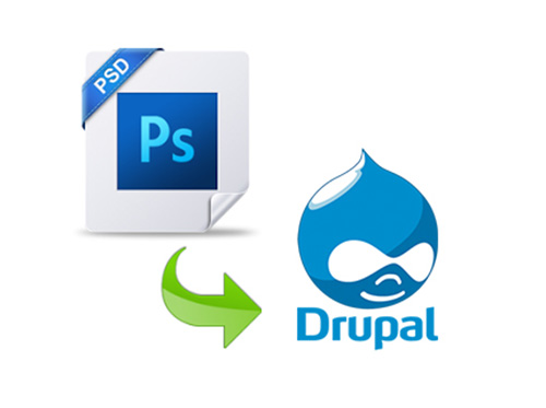 how to convert PSD to responsive Drupal theme